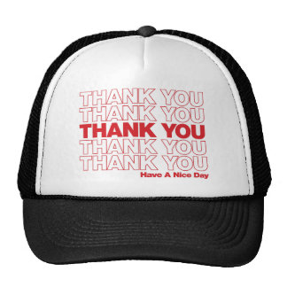 Thank You Bag Design - Red Cap