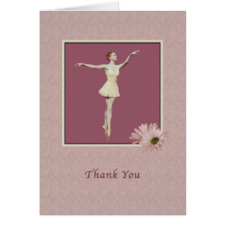 Thank You, Ballerina On Pointe with Daisies Card