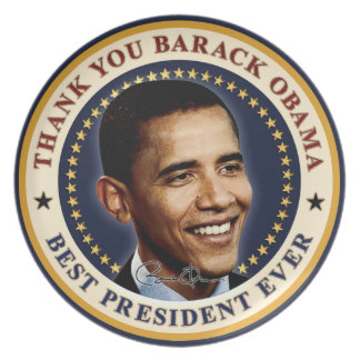 Thank You Barack Obama - Best President Ever Party Plates