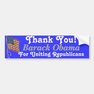 Thank You Barack Obama Bumper Sticker