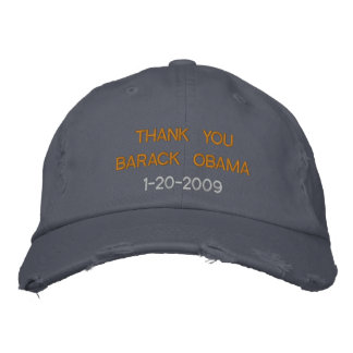 Thank You Barack Obama Embroidered Hats