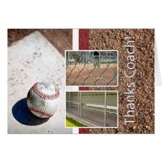 Thank you Baseball Little League Coach Card