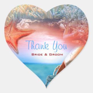 """Thank you"" beach wedding tropical cruise Sticker"