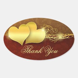 thank you beautiful golden design stickers