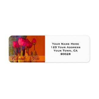 Thank You Beautiful Tulips Return Address Label