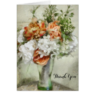Thank You Beautiful Vase Bridal Floral Bouquet Cards