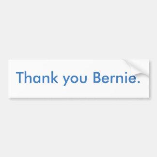 Thank you Bernie bumper sticker
