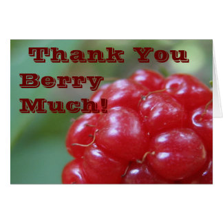 Thank You Berry Much! - Say it With a Big Very Card