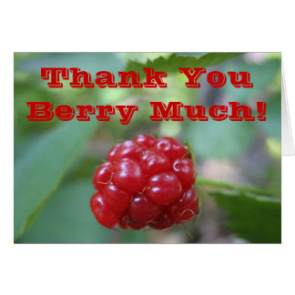 Thank You Berry Much! - Say it With a Very Note Card
