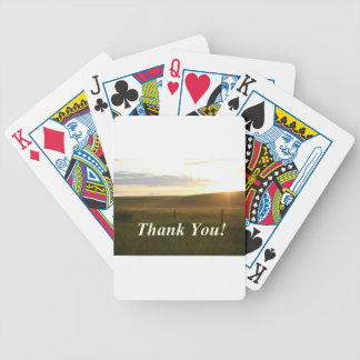 Thank you bicycle playing cards