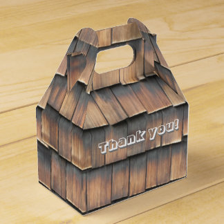 """""""Thank You"""" Birthday Party Wood Shingles for Him Favour Box"""