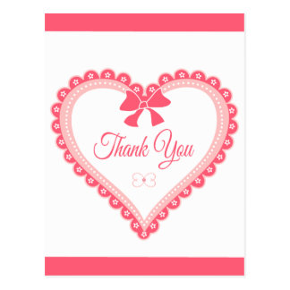 Thank You Black and White Damask Floral  Post Card