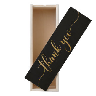 Thank You Black Faux Gold Typography