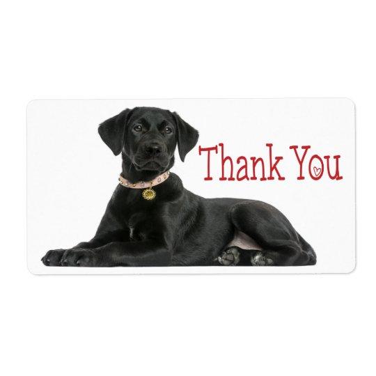 Thank You Black Labrador Retriever  Dog Sticker