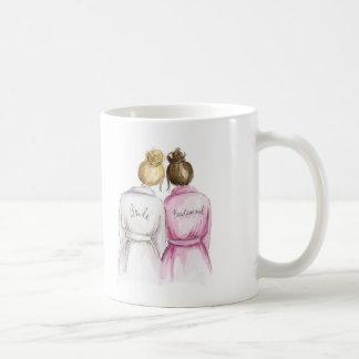 Thank You Blonde Bun Bride Br Bun Bm Basic White Mug