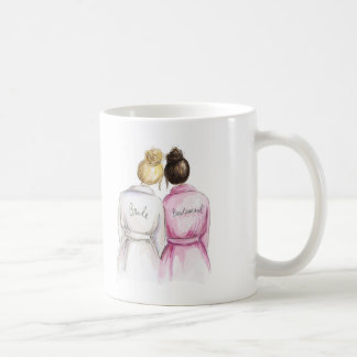 Thank You Blonde Bun Bride Dk Br Bun Bm Basic White Mug