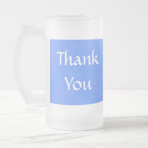 Thank You. Blue and White. Coffee Mug