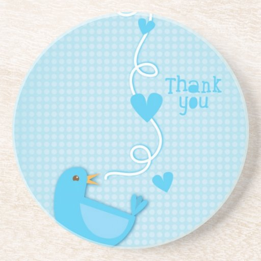 Thank you Blue Bird Drink Coasters