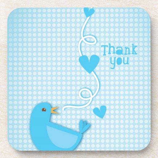 Thank you Blue Bird Drink Coasters