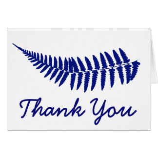 Thank you Blue Fern Note Card