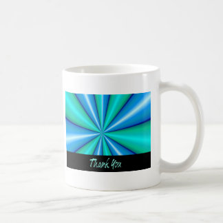 Thank You Blue Pipe Basic White Mug