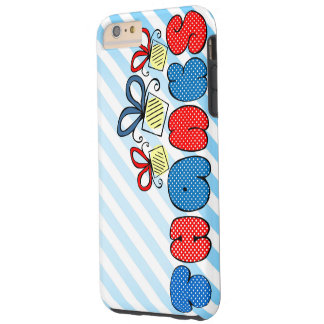 """""""Thank you""""  bold doodle sign with retro halftones Tough iPhone 6 Plus Case"""