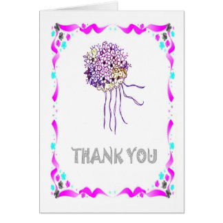 Thank you - Bouquet Greeting Card