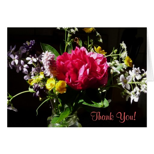 Thank You Bouquet of Flowers with Poem Cards
