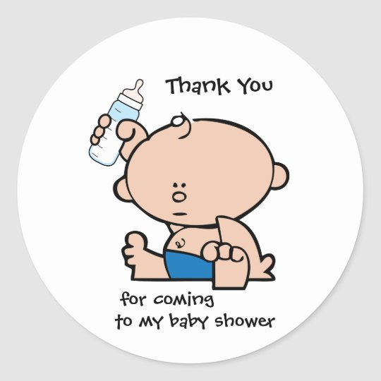 Baby Boy Gift Thank You Cards : Thank you boy baby shower gift tag sticker zazzle