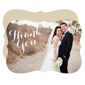 Thank You Bracket Wedding Photo card