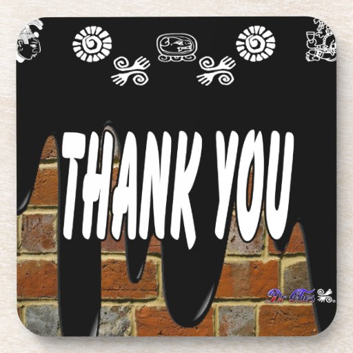 THANK YOU BRICK BACKGROUND PRODUCTS COASTER