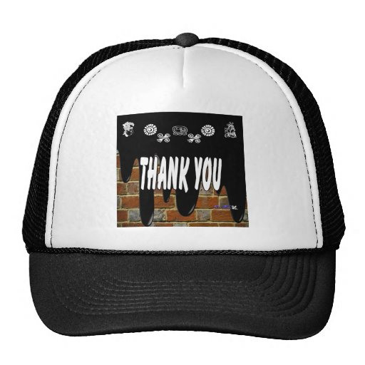 THANK YOU BRICK BACKGROUND PRODUCTS TRUCKER HATS