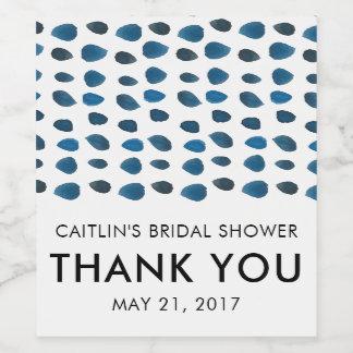 THANK YOU Bridal Shower Favor Wine Label