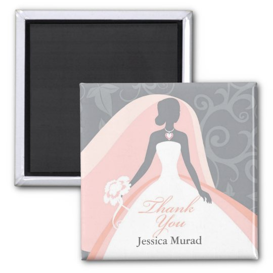Thank You Bridal Shower Favours Magnets