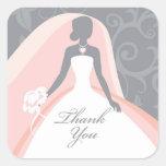 Thank You Bridal Shower Sticker