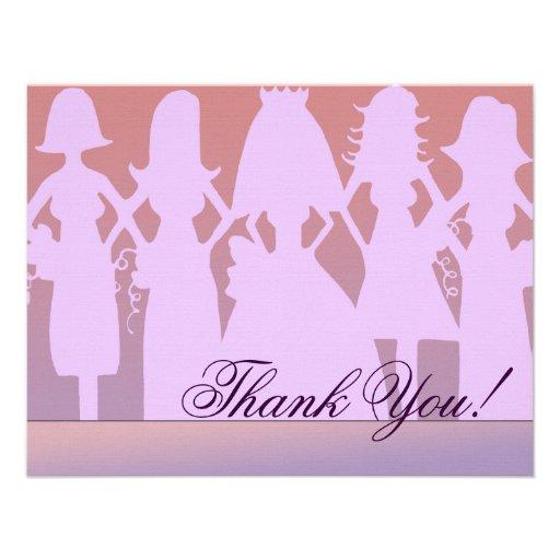 Thank you bridesmaid custom invite