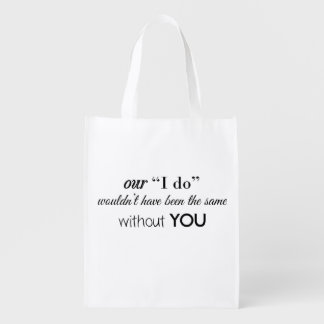 Thank You Bridesmaid, Reusable Bag Personalized
