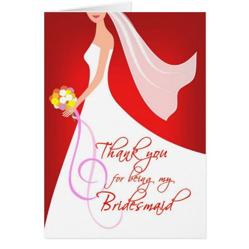 Thank you Bridesmaid - Ruby Red Card