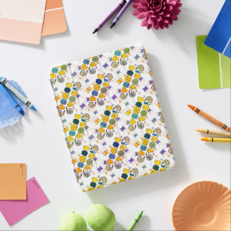 """""""Thank you"""" bright doodle design, kids drawing iPad Cover"""