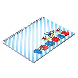 """""""Thank you"""" bright doodle design, kids Notebooks"""