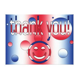 Thank You Britain Flag Colors Pop Art Canvas Print
