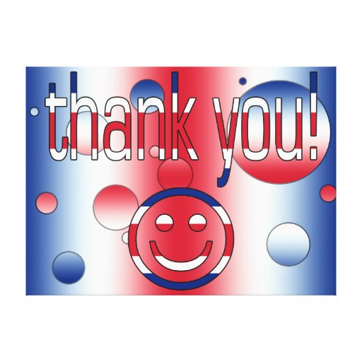 Thank You! Britain Flag Colors Pop Art Canvas Print