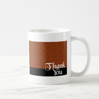 Thank You Bubbles Bronze Basic White Mug
