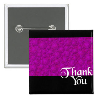 Thank You Bubbles Purple Glow 15 Cm Square Badge