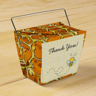 Thank You Bumble Bee Honeycomb Candy Favor Box