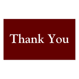 Thank You Business Cards Maroon Red