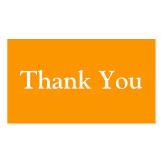Thank You Business Cards Template Orange