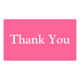 Thank You Business Cards Template Pink