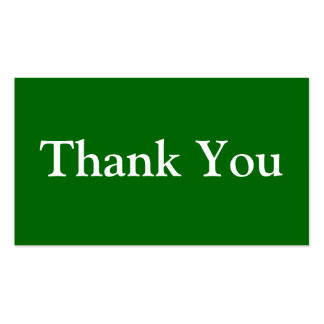 Thank You Business Cards Templates Green