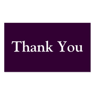 Thank You Business Cards Templates Purple